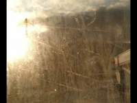 window on a train